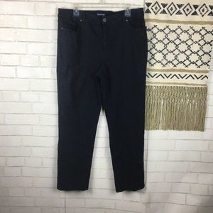 Bandolino Mandie Black Jeans Size 18